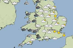 weather warnings for parts of the uk - gales, hail and thunder storms forecast for south west