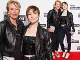 emma thompson and lookalike daughter gaia wis
