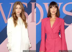 gigi hadid wows in white on cfda awards red carpet, sister bella debuts epic hair makeover