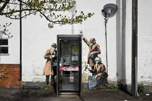 banksy recalls free print offer for anti-tory vote after police and electoral commission warnings