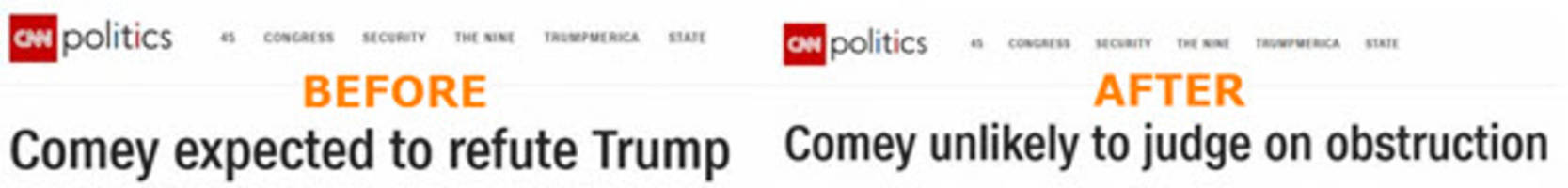 cnn corrects 'fake news' story on comey-trump