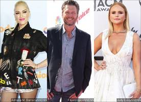 gwen stefani 'wouldn't mind' blake shelton running into ex miranda lambert at cmt music awards