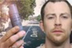 man jailed after spraying police officer with cs gas three times