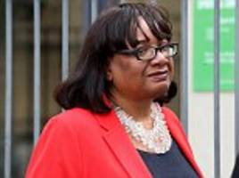 diane abbott breaks cover to vote in the general election