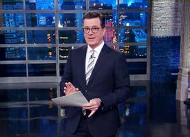 stephen colbert mocks donald trump over james comey's statement about their meeting