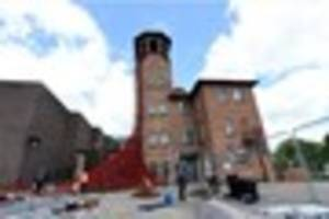 weeping window poppies in derby: how to get to the silk mill...