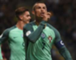 latvia 0 portugal 3: ronaldo stars as santos' side cruise to victory