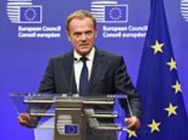 donald tusk warns clock is ticking to reach a brexit deal