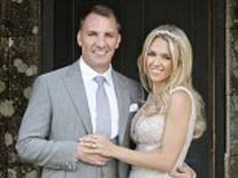 celtic manager brendan rodgers marries charlotte searle
