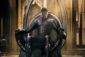 is 'black panther' poster a shout-out to classic huey newton portrait?