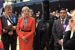 who is lord buckethead? the black-clad villain ran for british pm's seat