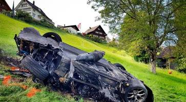the grand tour: richard hammond escapes serious injury after 'frightening' crash in switzerland