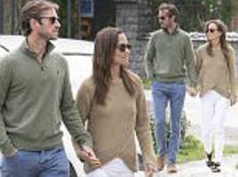 james and pippa matthews go for a stroll in stockholm