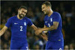 nottingham forest striker apostolos vellios and greece keep up...