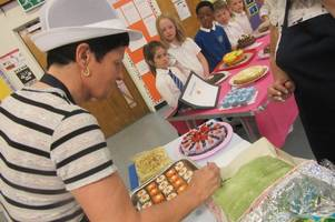 school kids whip up some sweet treats with bake-off