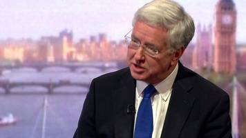 sir michael fallon: 'government view on brexit unchanged'