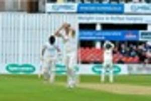 leicestershire left in trouble after poor second innings with the...
