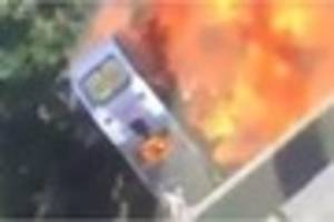 a12 bus fire: shocking video emerges of incident that lead to...