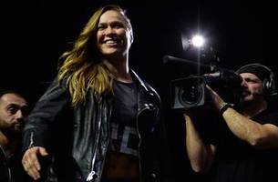 ronda rousey finds perfect training partner in malibu's sand dunes