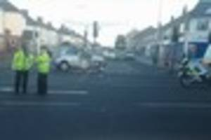 suspected drink driver in hospital after crashing into traffic...