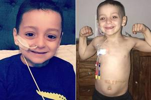 inside is changing fast: bradley lowery's family reveal he has 'new lumps and bumps each day' as condition deteriorates