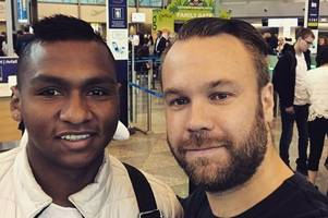 rangers target alfredo morelos jets into scotland for medical as he closes in on £1m move to ibrox