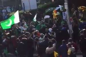 the incredible scenes on a cardiff main road as pakistan cricket supporters go wild after champions trophy win