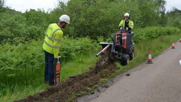communities in sutherland dig their own broadband trenches