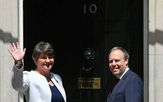 former pm major warns against dup deal as foster enters downing street