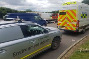 driver with a cs gas cylinder and motorists with cannabis snared by police today