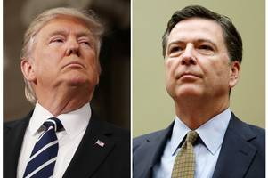 donald trump dodges calls to come clean over possible tapes of chat with ex-fbi chief james comey