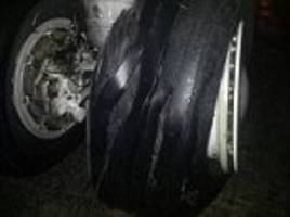tyre on malaysia airlines flight exploded during landing
