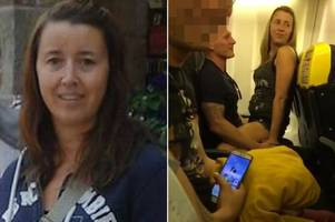 blonde mum filmed straddling man on ibiza-bound ryanair flight says it was just a 'fully-clothed lapdance'