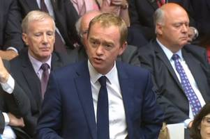 tim farron quits as liberal democrats leader after general election