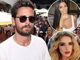 scott disick sends bella thorne and ex kourtney roses