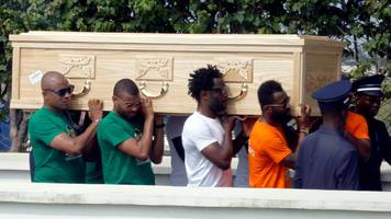 cheick tiote: ivory coast midfielder's body flown back home for funeral