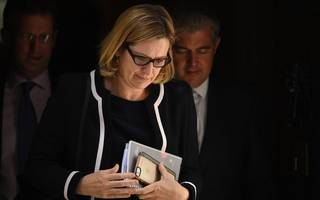 amber rudd on grenfell tower fire: don't rush to judgment