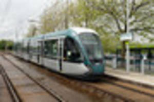 trams stop working in nottingham due to power outage