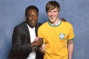 pele superfan 'didn't want to smudge' the brazilian legend's autograph when he signed his arm so he had it permanently tattooed on