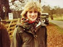 Princess Diana is seen on a shoot in candid photos