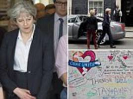 london fire: theresa may meets grenfell tower victims