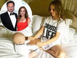 geri horner conceived after 'praying and acupuncture'