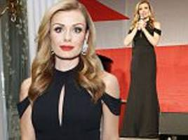 katherine jenkins wows in elegant gown at london gala