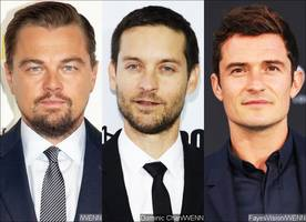 male squad goal! leonardo dicaprio and tobey maguire hang out with orlando bloom