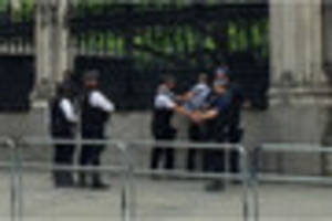 Police arrest 'man armed with knife' at Westminster