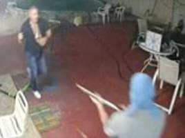 Florida man fights off three armed robbers with a machete