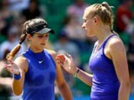 laura robson sets up nottingham doubles final
