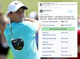 Rory McIlroy hits back at the Twitter insults
