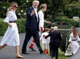 Trump heads to Camp David for the first time