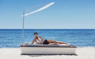 someone's created a £45,000 sun lounger (complete with spf facial misting)
